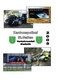 Verkehrsunfallstatistik 2005 (728 kB, PDF) - Kantonspolizei St.Gallen