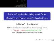 Pattern Classification Using Novel Order Statistics and Border ...