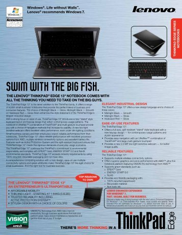 ThinkPad Edge AMD 13 - News - Lenovo