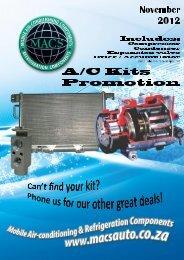 November 2012 Kit Specials - MACS