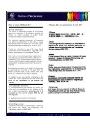 Date of issue: 18 March 2011 Closing date for applications: 1 April ...
