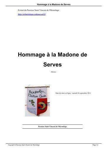 Hommage à la Madone de Serves - Paroisse Saint Vincent de l ...