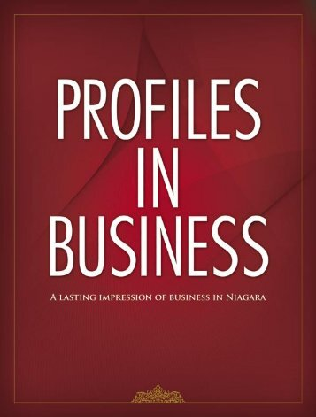 PROFILES IN BUSINESS - The Business Link Niagara