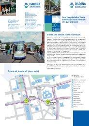 Vom Hauptbahnhof in die Innenstadt von Darmstadt ... - HEAG Mobilo