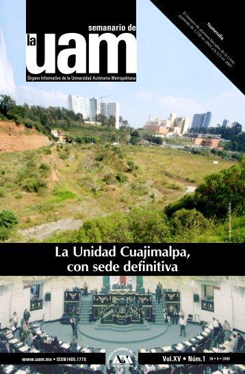 La Unidad Cuajimalpa, con sede definitiva - UAM. Comunicación ...