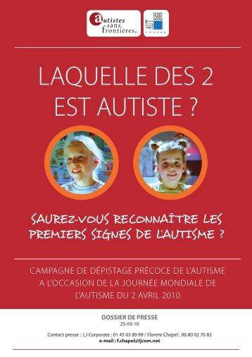 Dépistage - Autisme France