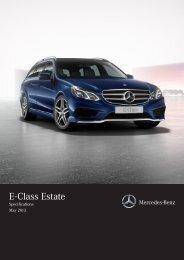 E-Class Estate Specifications (PDF) - Mercedes-Benz