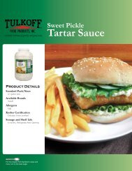 Sweet Pickle Tartar Sauce - Tulkoff Food Products