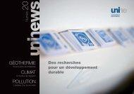 UniNEws 20 - Université de Neuchâtel