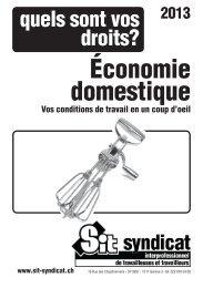 Quels sont vos droits dans l'économie domestique 2013 - Syndicat ...