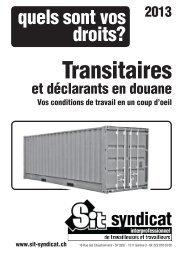 Transitaires - Syndicat interprofessionnel de travailleuses et ...