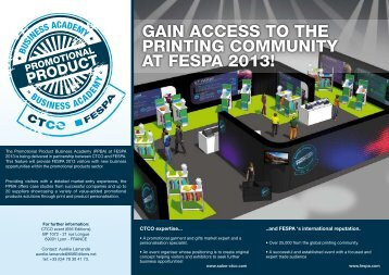 Gain access to the PrintinG community at FesPa 2013!