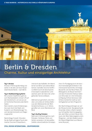 Berlin & Dresden - Stoll Reisen International