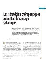 Les stratégies thérapeutiques actuelles du sevrage ... - Santé Durable