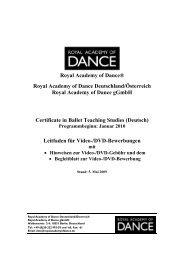 Royal Academy of Dance® Royal Academy of Dance Deutschland ...