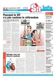 Pourquoi le SIT n'a pas soutenu le référendum - Syndicat ...