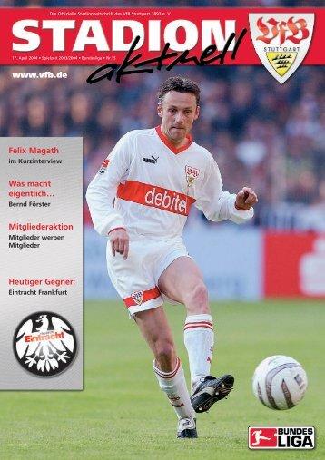 Grußwort des Präsidenten Erwin Staudt - VfB Stuttgart