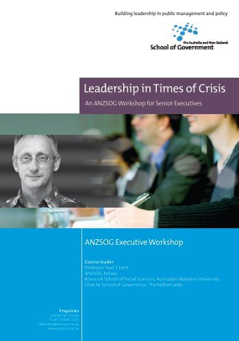 Leadership in Times of Crisis - Australia and New Zealand School of ...