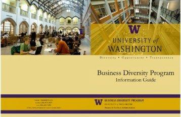 Download the BDP brochure - University of Washington