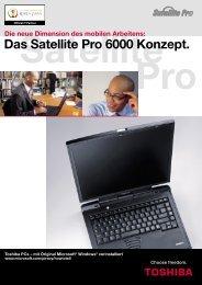 Das Satellite Pro 6000 Konzept. - Toshiba