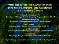 Sensitivities, Impacts, and Adaptation to a Changing Climate - GLERL