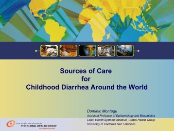 Sources of Care for Childhood Diarrhea Around ... - (SHOPS) project