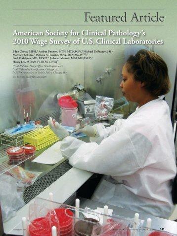 2010 Wage Survey of U.S. Clinical Laboratories - LabMedicine