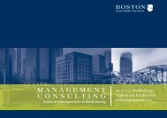 MANAGEMENT CONSULTING - Boston Business School