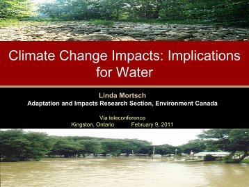 C-CIARN presentation - Ontario Centre for Climate Impacts and ...