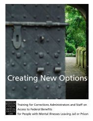 Creating New Options - Bazelon Center for Mental Health Law