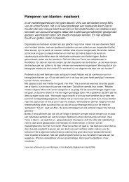 65) J. Simons Pamperen van klanten in Oehoe 10(2006)