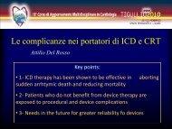 Le complicanze nei portatori di ICD e CRT - TigullioCardio