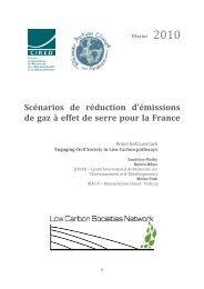 Scénarios de réduction d'émissions de gaz à effet de serre pour la ...