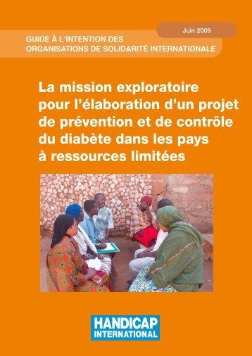 La mission exploratoire pour l'élaboration d'un projet de prévention ...