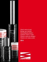 Cilindri molla ad azoto Nitrogen gas cylinders ... - Special Springs