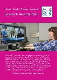 Research Awards 2010 - Chest Heart & Stroke Scotland