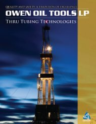 Print your copy of the Thru-Tubing Technologies Tooling Chart.