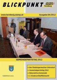 GEMEINDEPARTEITAG 2012 www.ternberg.ooevp.at Ausgabe 04 ...