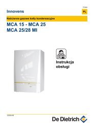 MCA 15 - MCA 25 MCA 25/28 MI - De Dietrich