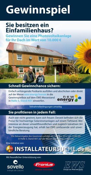 Gewinnspiel - New Energy Husum