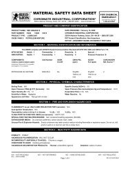 MATERIAL SAFETY DATA SHEET - Chromate Industrial Corporation