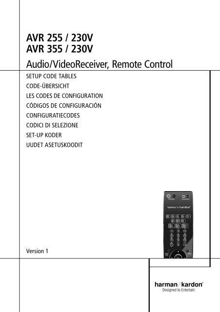 AVR 255 / 230V AVR 355 / 230V audio/Videoreceiver, remote Control