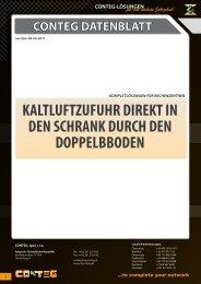 KALTLUFTZUFUHR DIREKT IN DEN SCHRANK DURCH ... - Conteg
