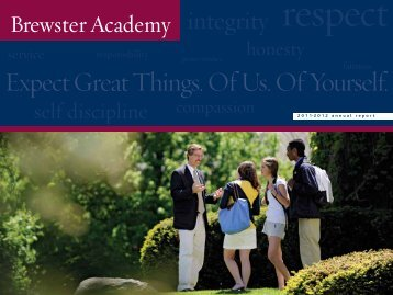Expect Great Things. Of Us. Of Yourself. - Brewster Academy