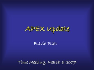 APEX Update