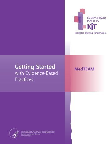 Getting Started with Evidence Based Practices - SAMHSA Store ...
