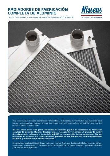 RadiadoRes de fabRicación completa de aluminio - Nissens