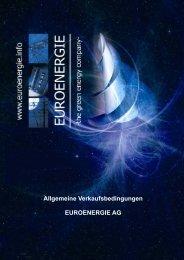 Allgemeine Verkaufsbedingungen EUROENERGIE AG