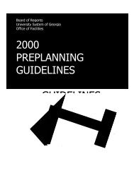 Preplanning Guidelines - University System of Georgia