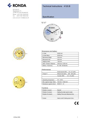 Technical Instructions 6004b Specification Cousins Uk